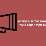 A contrarreforma trabalhista de Temer e a MP 905 de Bolsonaro