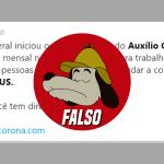 É FALSO que governo iniciou cadastro para 'auxílio-cidadão' de R$ 200 contra coronavírus