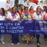 Mulheres ocupam as ruas de Conquista contra o machismo, a violência e a retirada de direitos