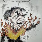 Jair Bolsonaro: só uma faiscazinha