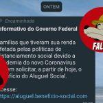 #FALSO| Governo Federal não irá distribuir Aluguel Social durante a pandemia da covid-19