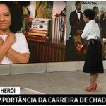 Jornalista se emociona ao falar sobre a morte do ator Chadwick Boseman