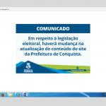 Site e perfis das redes sociais da Prefeitura de Conquista ficam fora do ar após decisão judicial