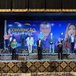 Convenção oficializa candidatura à releição de Herzem Gusmão em meio a incêndio, protestos e o bolsonarista Roberto Jefferson