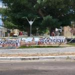 Intervenção artística na Olívia Flores neste domingo (15)