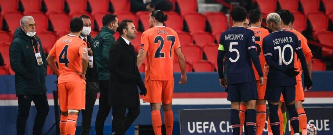 Racismo gera reação de jogadores em partida UEFA Champions League