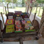 Casal desenvolve biblioteca no Distrito da Cabeceira da Jiboia do município de Conquista