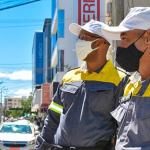 Agentes de trânsito iniciam fiscalização das novas regras nacionais em Conquista